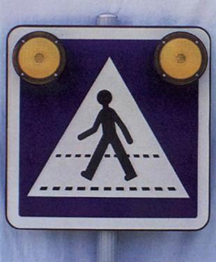 Feu clignotant d'alerte routière professionnel Française